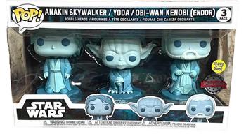 image de Anakin Skywalker / Yoda / Obi-Wan Kenobi [Endor] (3-Pack) (Glow in the Dark)