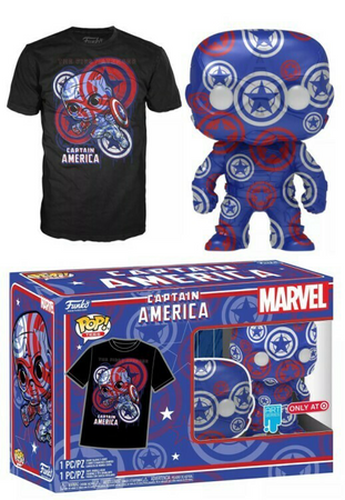 image de Captain America POP! & Tee Collectors Box (XL)