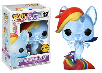image de Rainbow Dash Sea Pony (Clear)