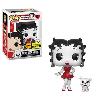 image de Betty Boop & Pudgy (Black & White) (Red Dress)