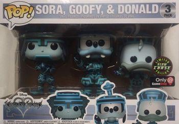 image de Sora, Goofy, & Donald (Tron 3-Pack) (Glow in the Dark)