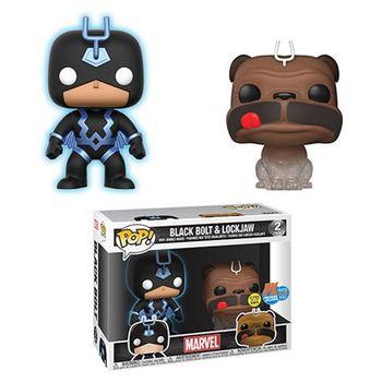 image de Black Bolt (Blue - Glow) & Lockjaw (Teleporting) (2-Pack) [SDCC]