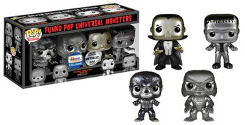 image de Universal Monsters (Black & White) (Metallic) (4-Pack)