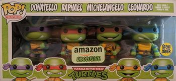image de Teenage Mutant Ninja Turtles (Glow, 4-Pack) [Amazon]