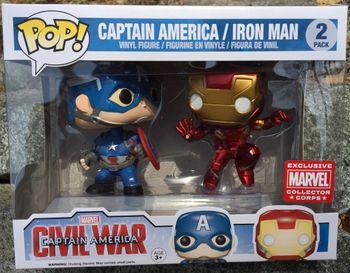 image de Captain America & Iron Man (Civil War) (Action Pose) (2-Pack)