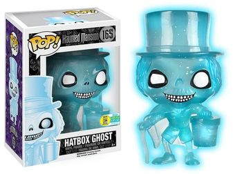 image de Hatbox Ghost (Haunted Mansion) (Blue Glow Glitter)