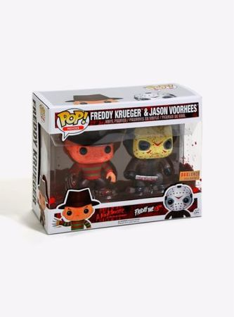 image de Freddy Krueger & Jason Voorhees (Bloody) (2 Pack)