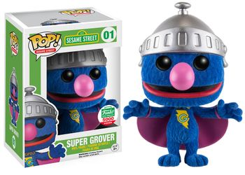 image de Super Grover (Flocked)