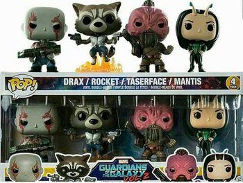 image de Drax, Rocket, Taserface, and Mantis (4-Pack)