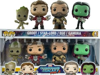 image de Groot, Star-Lord, Ego, and Gamora (4-Pack)