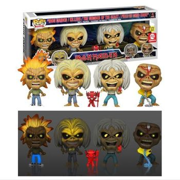 image de Iron Maiden Eddie (4-Pack) (Glow in the Dark)