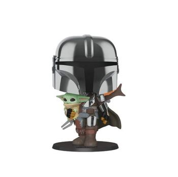 image de Chrome Armor Mandalorian with The Child (10-Inch) (Chrome)
