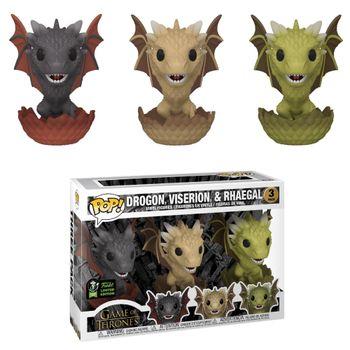 image de Drogon, Viserion, & Rhaegal (Hatching 3-Pack) [ECCC]